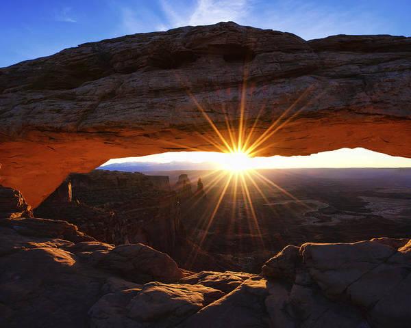 Mesa Sunrise Poster featuring the photograph Mesa Sunrise by Chad Dutson