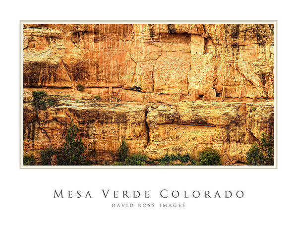 Anasazi Poster featuring the photograph Mesa Verde Colorado Gallery Series Collection by David Ross