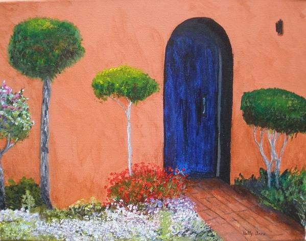 New Mexico Poster featuring the painting Mesilla Door by Betty-Anne McDonald