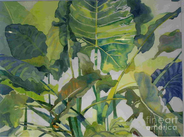 Green Poster featuring the painting Mess Of Greens by Elizabeth Carr