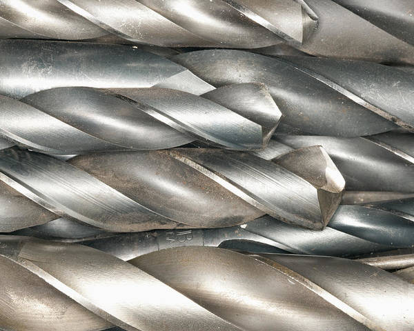 Bits Poster featuring the photograph Metal Drill Bits by Shannon Fagan