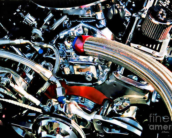 Engine Poster featuring the photograph Metal Matter by Linda Parker