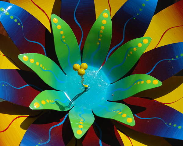 Sculpture Poster featuring the photograph Metallic Flora by William Thomas