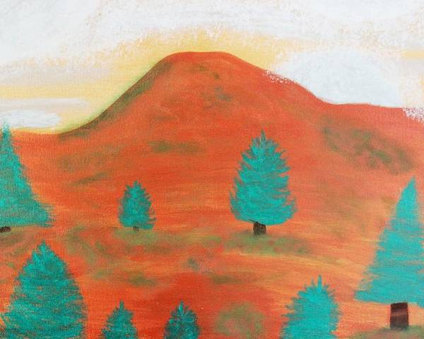 Metallic Poster featuring the painting Metallic Landscape by Connie Ann LaPointe