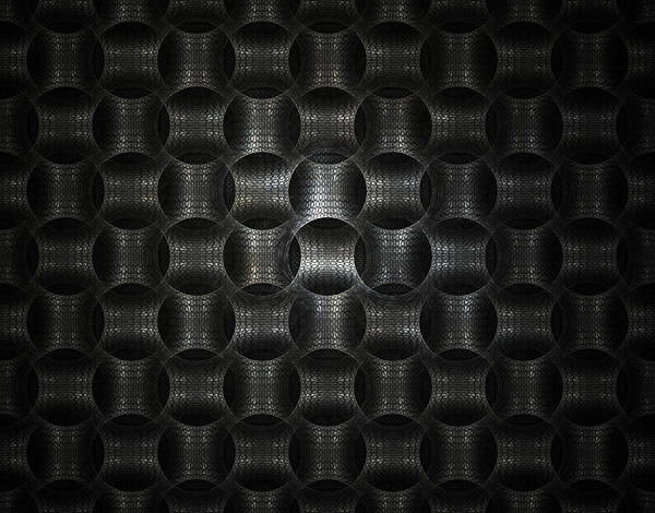Fractal Poster featuring the digital art Metallic Weave by David April