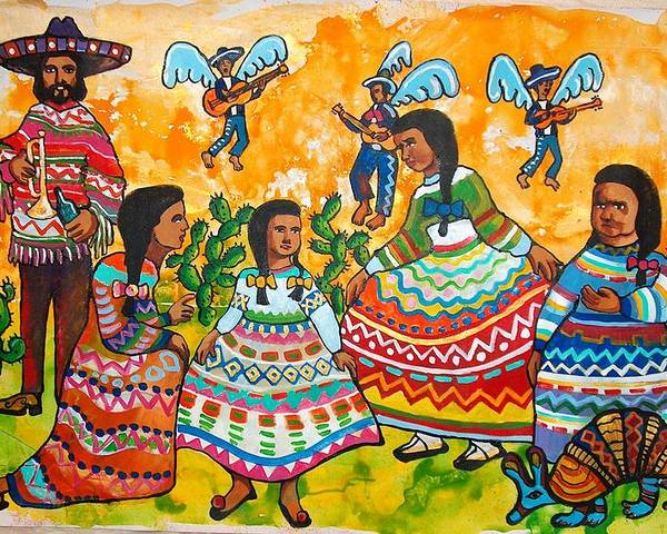 That Painting Is Sold On The Silent Auction In San Antonio. Prints Are Available. Poster featuring the painting Mexican Women by Charles Harrison Pompa