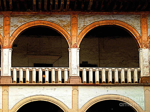 Patzcuaro Poster featuring the photograph Mezzanine 3 by Mexicolors Art Photography