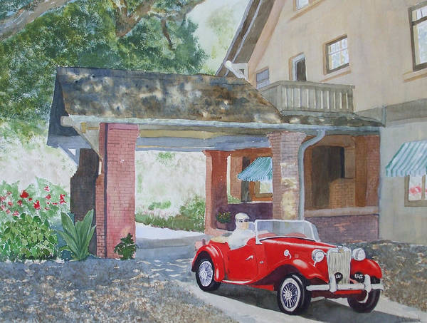 Mg Poster featuring the painting Mg At Marston House by Ally Benbrook