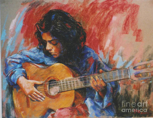 Figurative Poster featuring the painting Mi Gitana by Tina Siddiqui