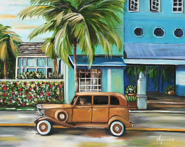 Landscape Poster featuring the painting Miami Nice by Dyanne Parker