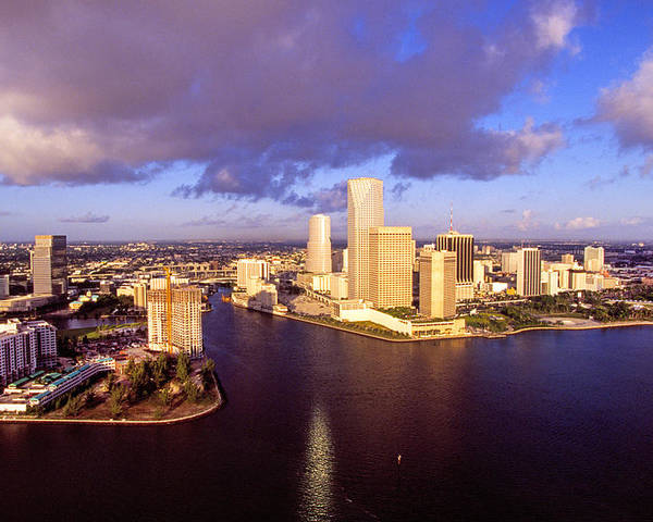 Miami Poster featuring the photograph Miami Skyline 3 by Buddy Mays