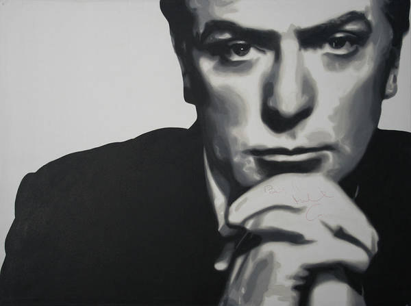Michael Caine Poster featuring the painting Michael Caine 2013 by Luis Ludzska