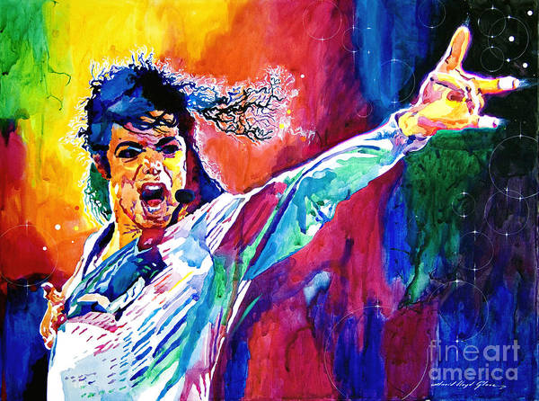 Michael Jackson Poster featuring the painting Michael Jackson Force by David Lloyd Glover