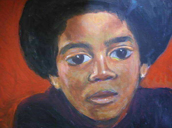 Michael Jackson Poster featuring the painting Michael Jackson by Jan Gilmore