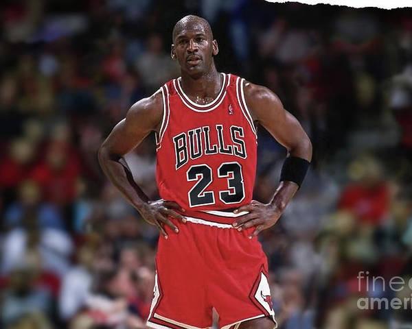 Michael Jordan, Number 23, Chicago Bulls Poster