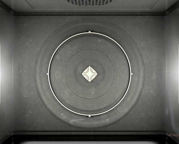 Microwave Poster featuring the digital art Microwave Top View by Allan Swart