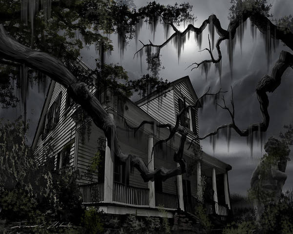 Ghosts Poster featuring the painting Midnight In The House by James Christopher Hill