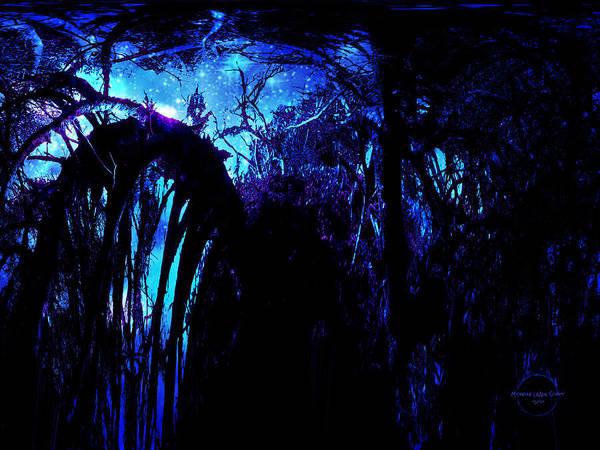 Midnight Poster featuring the digital art Midnight Serenity by Absinthe Art By Michelle LeAnn Scott