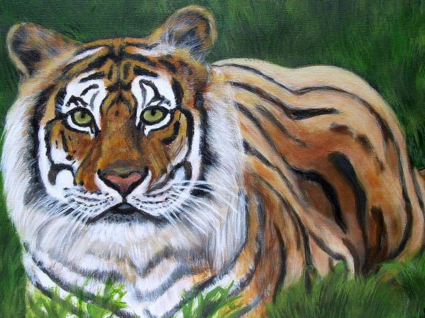 Bengal Tiger Poster featuring the painting Mighty Bengal by Vickie Wooten