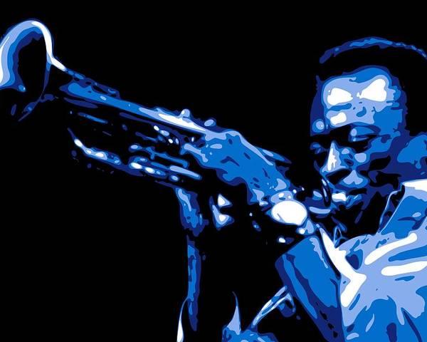 Miles Davis Poster featuring the digital art Miles Davis by DB Artist
