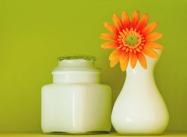 Jar Poster featuring the photograph Milk Glass by Linda McRae