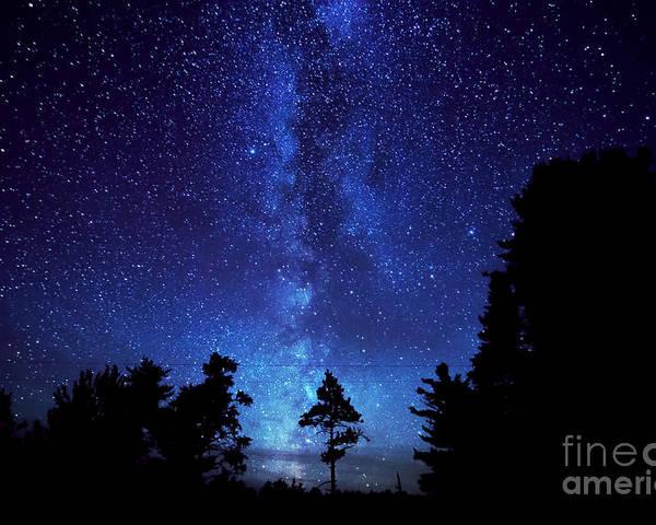 Aurora Borealis Northern Lights Michigan Tahquamenon Falls M 123 Milky Way Night Sky Stars Up Upper Peninsula Poster featuring the photograph Milky Way by Boreal Visions