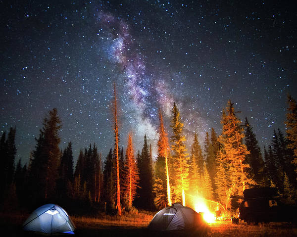 Horizontal Poster featuring the photograph Milky Way by William Church - Summit42.com