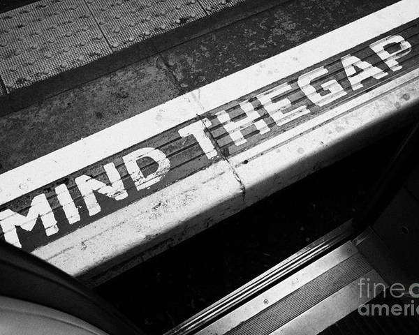 London Poster featuring the photograph Mind The Gap Between Platform And Train At London Underground Station England United Kingdom Uk by Joe Fox