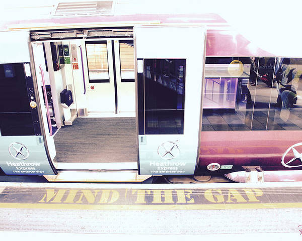 Tube Poster featuring the photograph Mind The Gap by Rasma Bertz