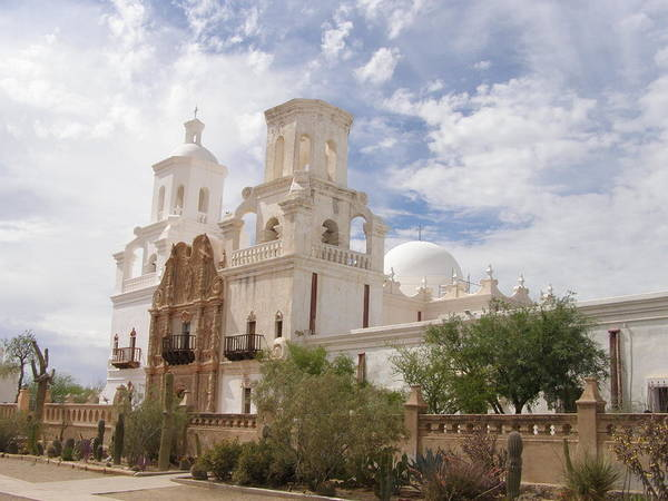 Arizona Poster featuring the photograph Mission San Xavier by Jeanette Oberholtzer