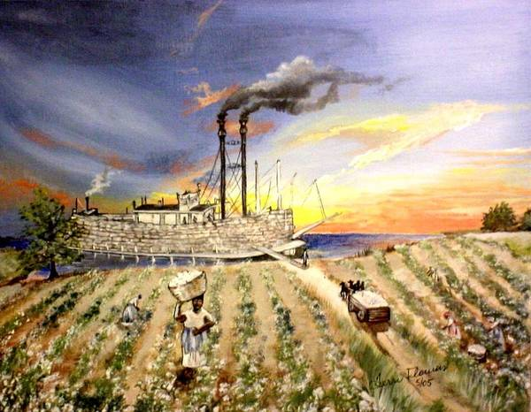 Memphis Poster featuring the painting Mississippi Cotton Boat by Terri Kilpatrick
