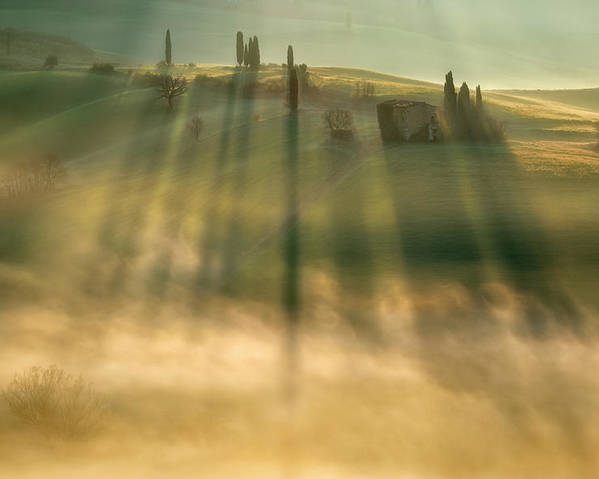 Landscape Poster featuring the photograph Mist by Krzysztof Browko