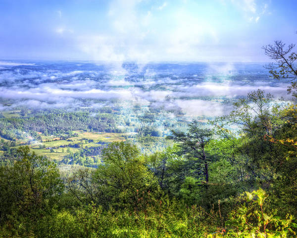 Appalachia Poster featuring the photograph Mists In The Valley by Debra and Dave Vanderlaan