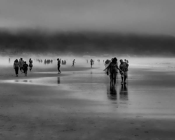Mist Poster featuring the photograph Misty Beach by David Patterson