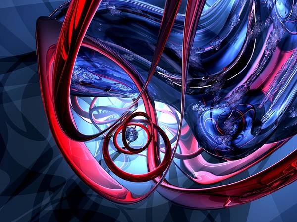3d Poster featuring the digital art Misty Dreams Abstract by Alexander Butler