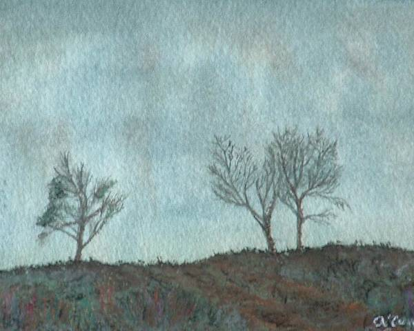 Landscape Poster featuring the painting Misty Morning by Lynn ACourt
