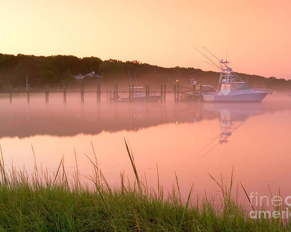 Mist Poster featuring the photograph Misty Morning Osterville Cape Cod by Matt Suess