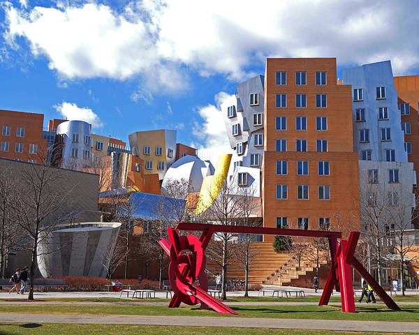 Mit Poster featuring the photograph Mit Stata Center Cambridge Ma Kendall Square M.i.t. Sculpture by Toby McGuire