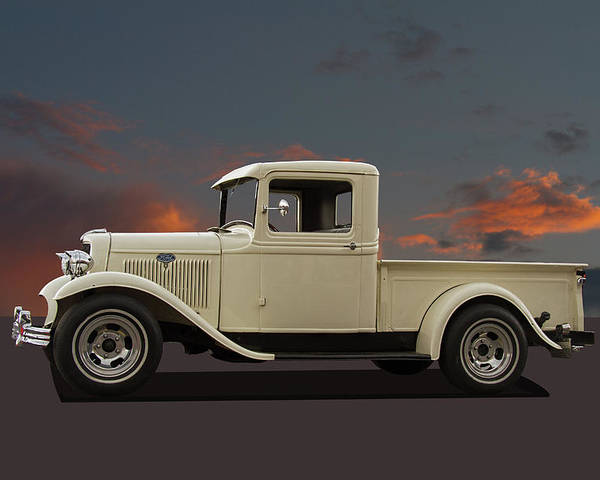 Ford Poster featuring the photograph Model A Ford Truck by Nick Gray