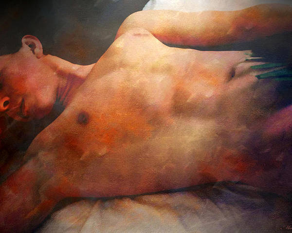Artistic Nude Poster featuring the digital art Modesto by Mark Ashkenazi