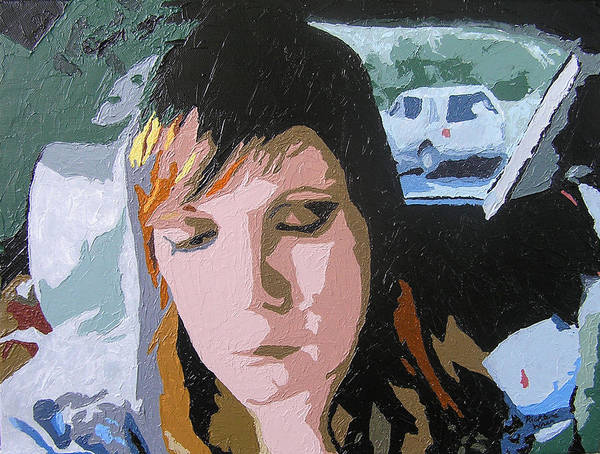 Portrait Poster featuring the painting Moment in Time by Ricklene Wren