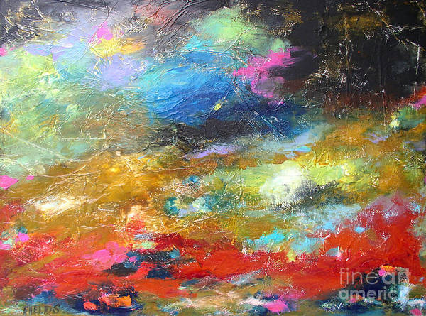 Abstract Poster featuring the painting Moments by Karen Fields
