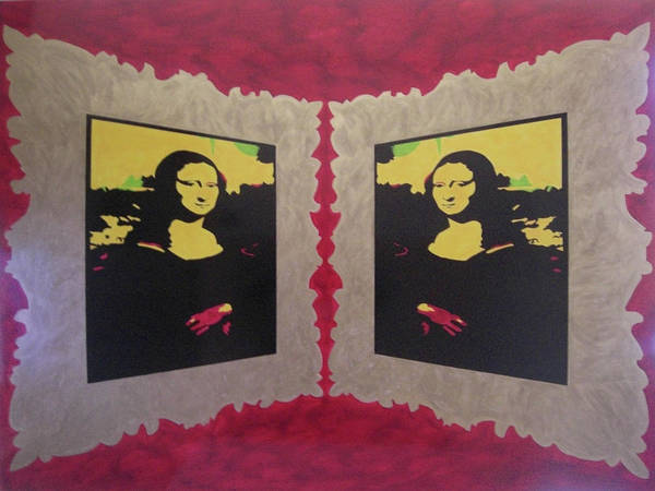 Gioconda Poster featuring the painting Mona Lisa by Orazio Scilimpa
