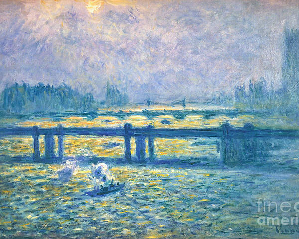 1901 Poster featuring the photograph Monet: Charing Cross by Granger