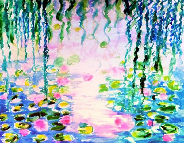 Lily Pond Poster featuring the painting Monet's Water Lily Pond by Hae Kim