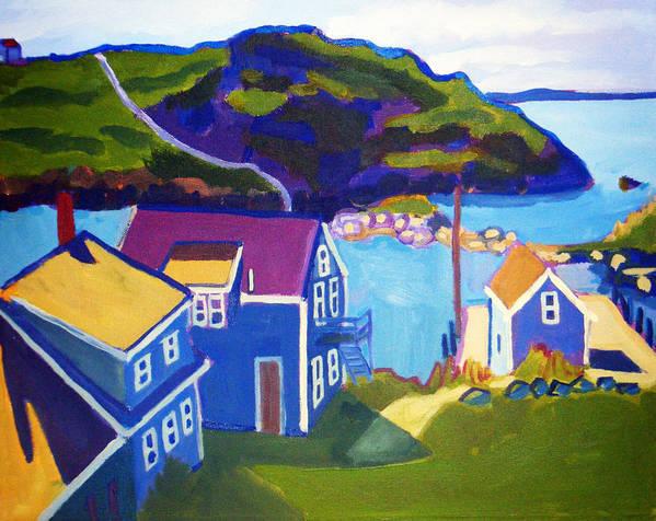 Seascape Poster featuring the painting Monhegan Harbor by Debra Bretton Robinson