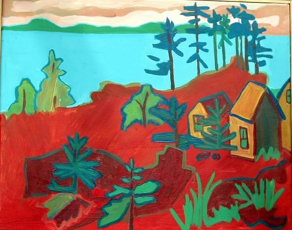 Beach Poster featuring the painting Monhegan Hue by Debra Bretton Robinson