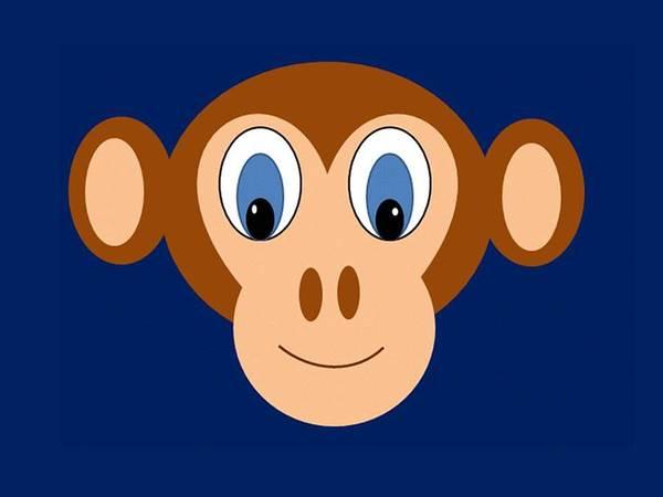 Monkey Art Poster featuring the digital art Monkeying Around by Joanne Elizabeth