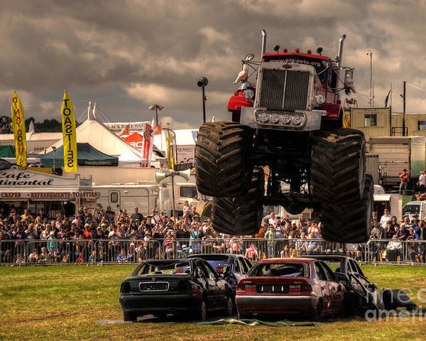 Monster Poster featuring the photograph Monster Truck Destruction by Rob Hawkins