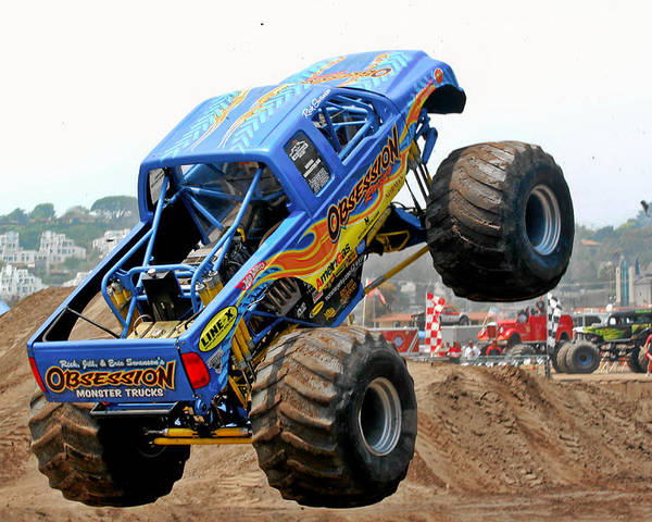 Dirt Poster featuring the photograph Monster Trucks - Big Things Go Boom by Christine Till